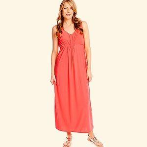 1X Coral Maxi Dress